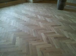 Handscraped Herringbone Hardwood