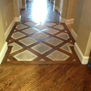 Hardwood Lattice Pattern