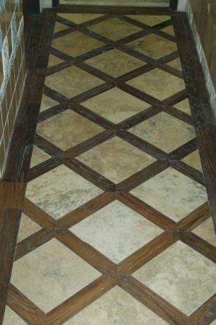 Lattice Pattern Hardwood Installation