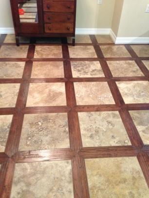 Dustless Hardwood Lattice Pattern