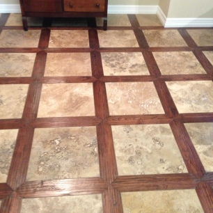 Dustless Hardwood Lattice Pattern